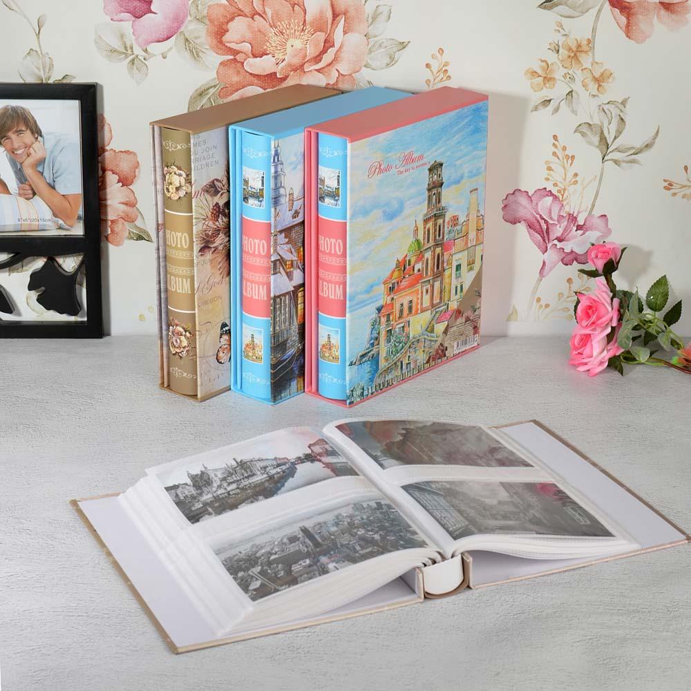 Фотоальбом на 200 фото 10х15см, 26,5х21х5,5см, бумага, пластик, 4 дизайна, в коробке