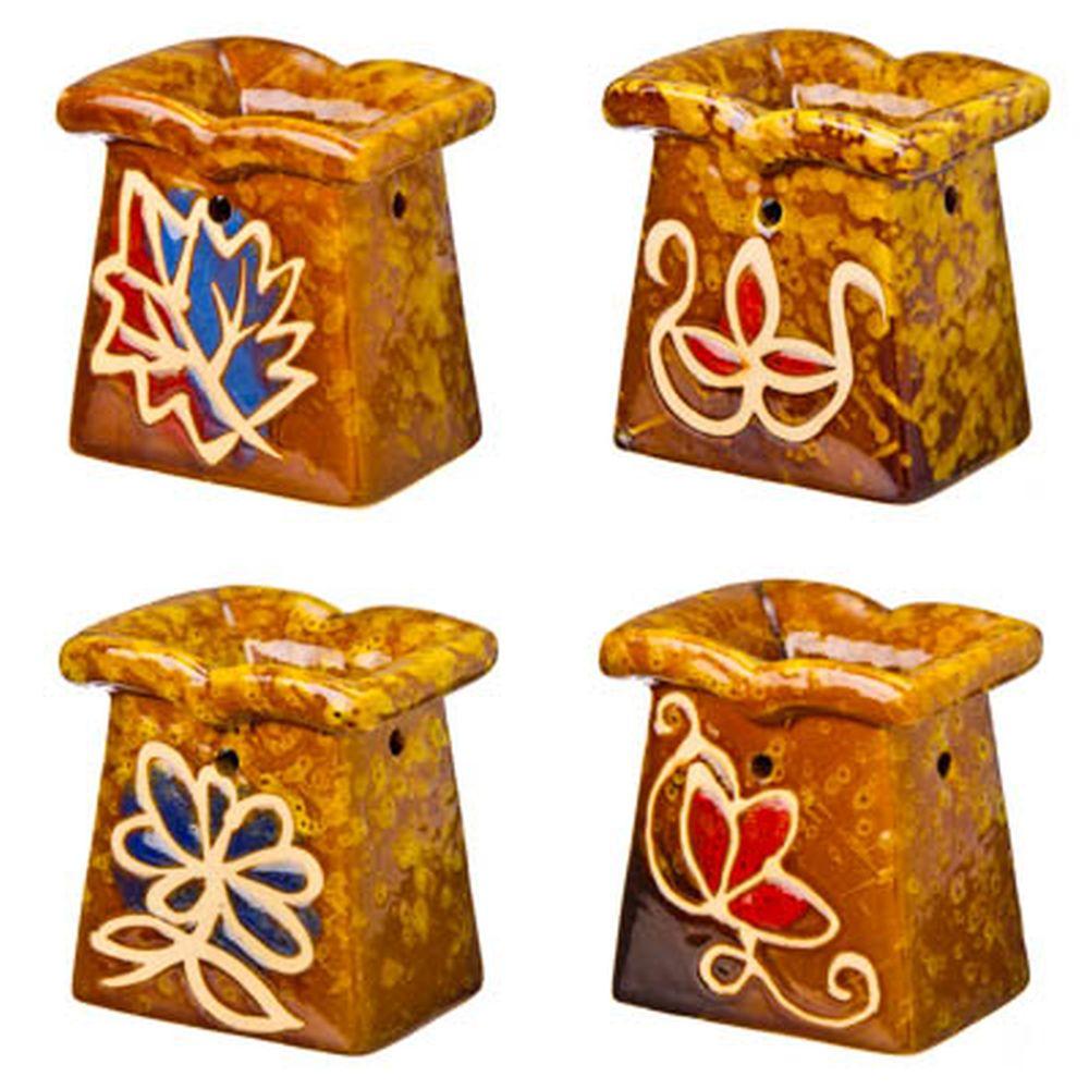 "Аромалампа ""Флора"", 8х7х5,5см, керамика, 4 дизайна"
