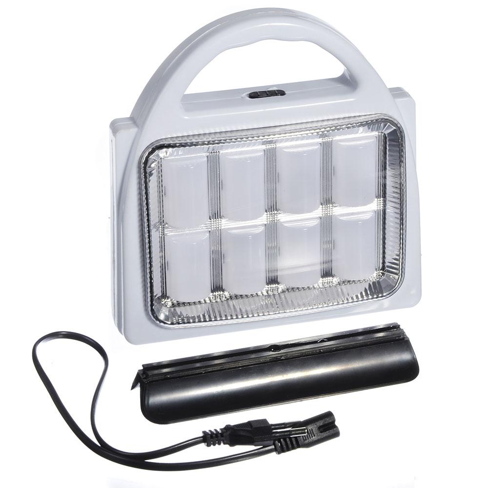 ЧИНГИСХАН Фонарь-светильник с ручкой 8(32) SMD LED, 3xD / шнур 220В, пластик, 21x17 см