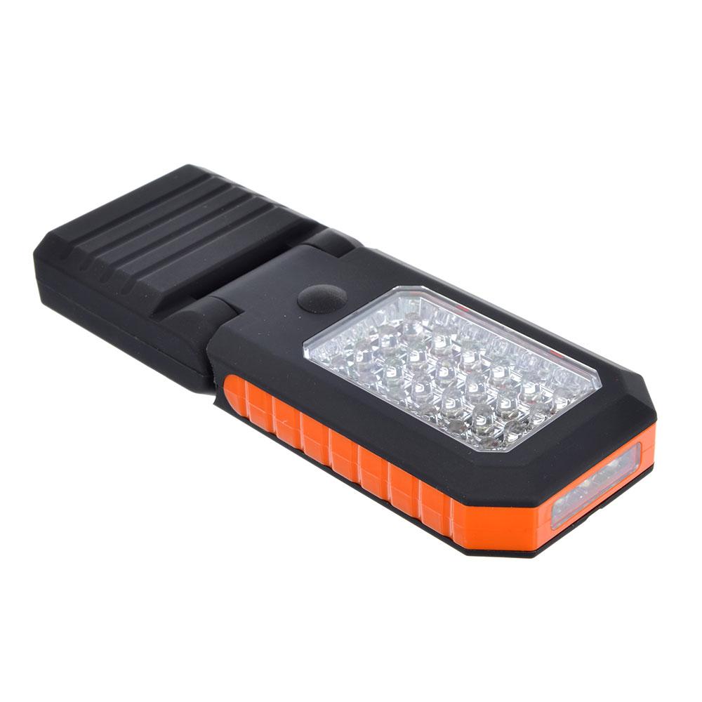 ЧИНГИСХАН Фонарь подвесной складной 24+3 LED, 3хААА, пластик, 16х6 см