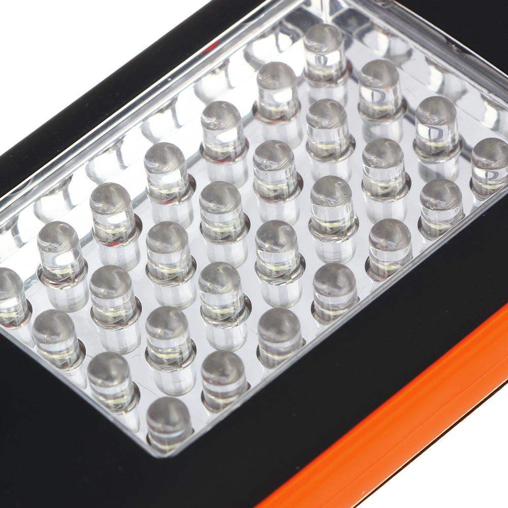 ЧИНГИСХАН Фонарь подвесной 28+4 LED, 3хААА, пластик, 12х6х2см