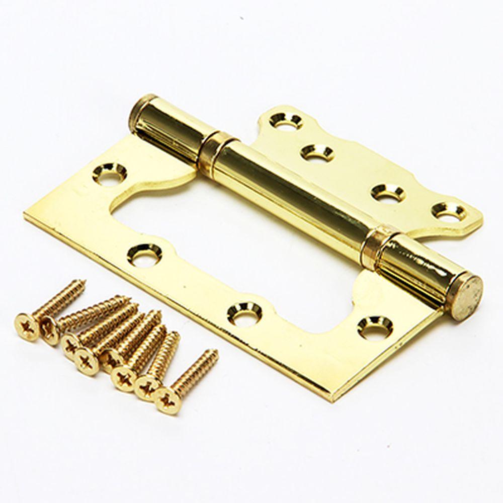 KORAL Петля накладная (БЕЗ ВРЕЗКИ) 4x3x2,5 pb золото (100x75x2,5)