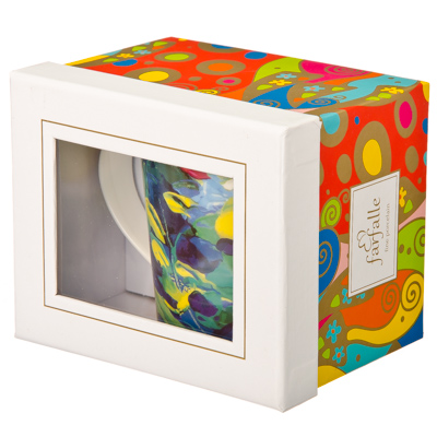 FARFALLE Feerie Кружка 370мл, костяной фрф, подар.упак, Orangerie, Дизайн GC