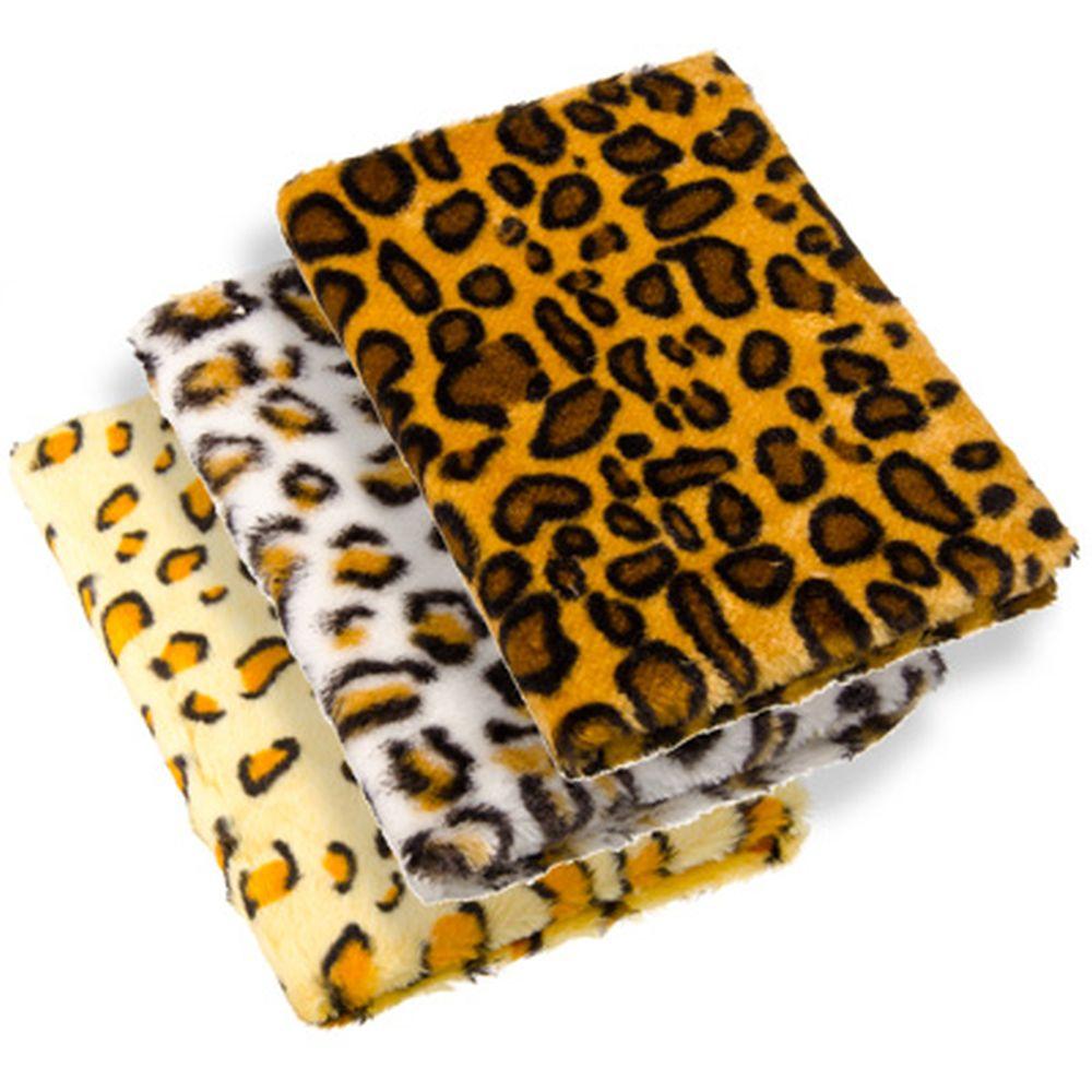 """Блокнот 90 л., """"Леопард"""" искусств.мех, бумага, полиэстер, 21х15,5см, 3 цвета"""