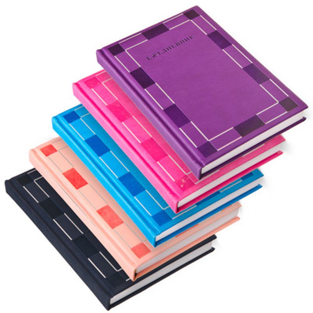 """Блокнот 140 л., недатированный, """"Романтик"""" 21х14см, твердый переплет, бумага, полиуретан, 5 цветов"""