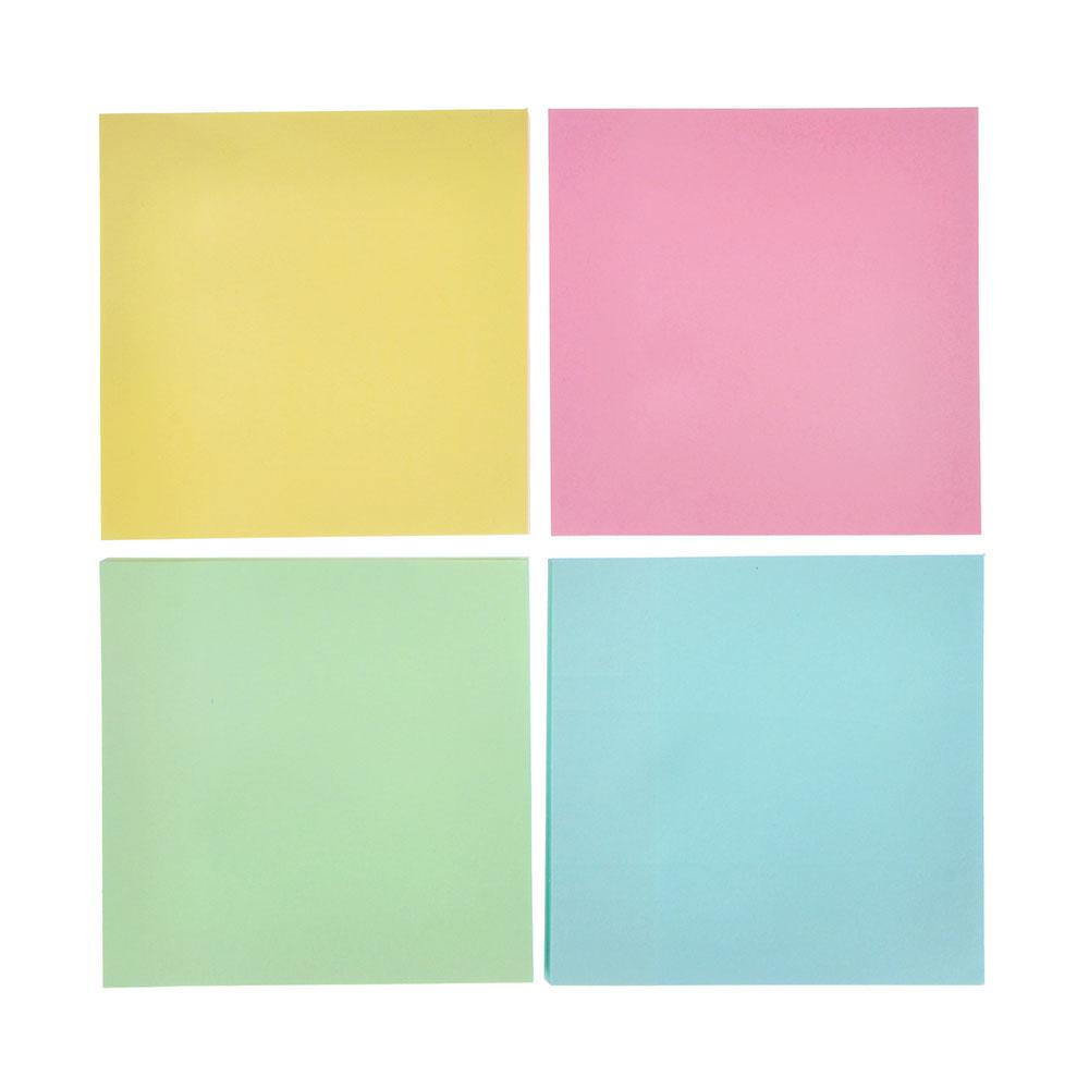 Блок с клеевым краем 76x76 мм 100 листов, 4 цвета
