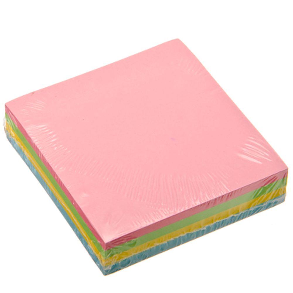 Блок для заметок с клеевым краем, 76x76мм, 100 листов, 4 цвета