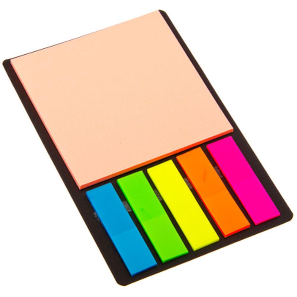 Набор: листочки самоклеющиеся и закладки, 13х8 см, 4 цвета