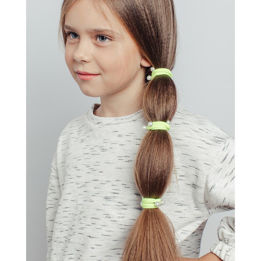 Набор резинок для волос 4шт., нейлон, d4 см, 6 цветов