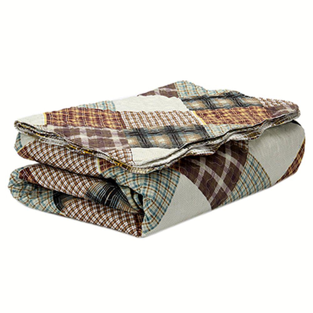 Набор постельный (покрывало стеганое 200x230см, наволочки 2шт 50x70см), хлопок, ALV-97
