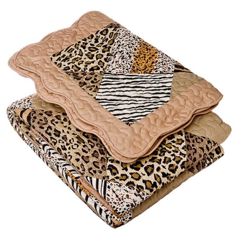 Набор постельный (покрывало стеганое 200x230см, наволочки 2шт 50x70см), хлопок, ALV-98