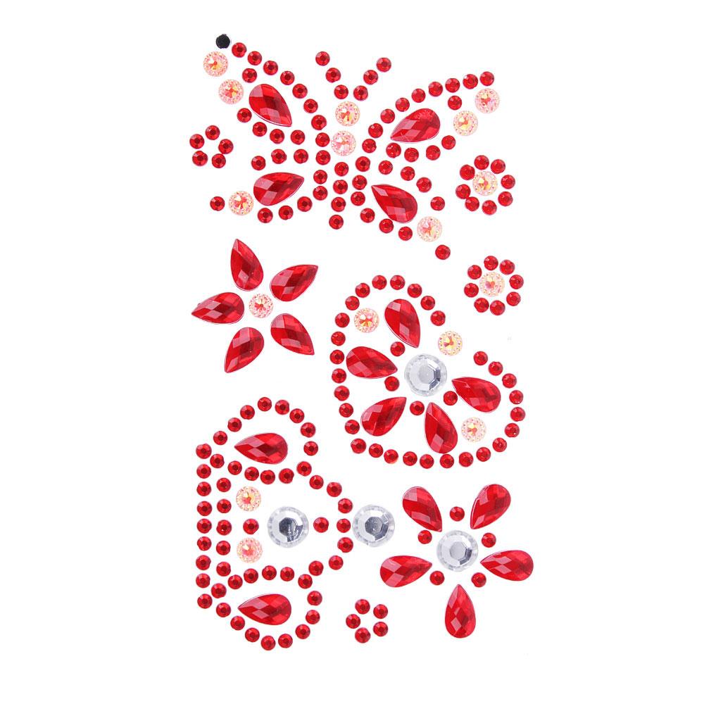 Наклейка Блеск, ПВХ, 17х8см, 5-7 цветов, арт.75-04