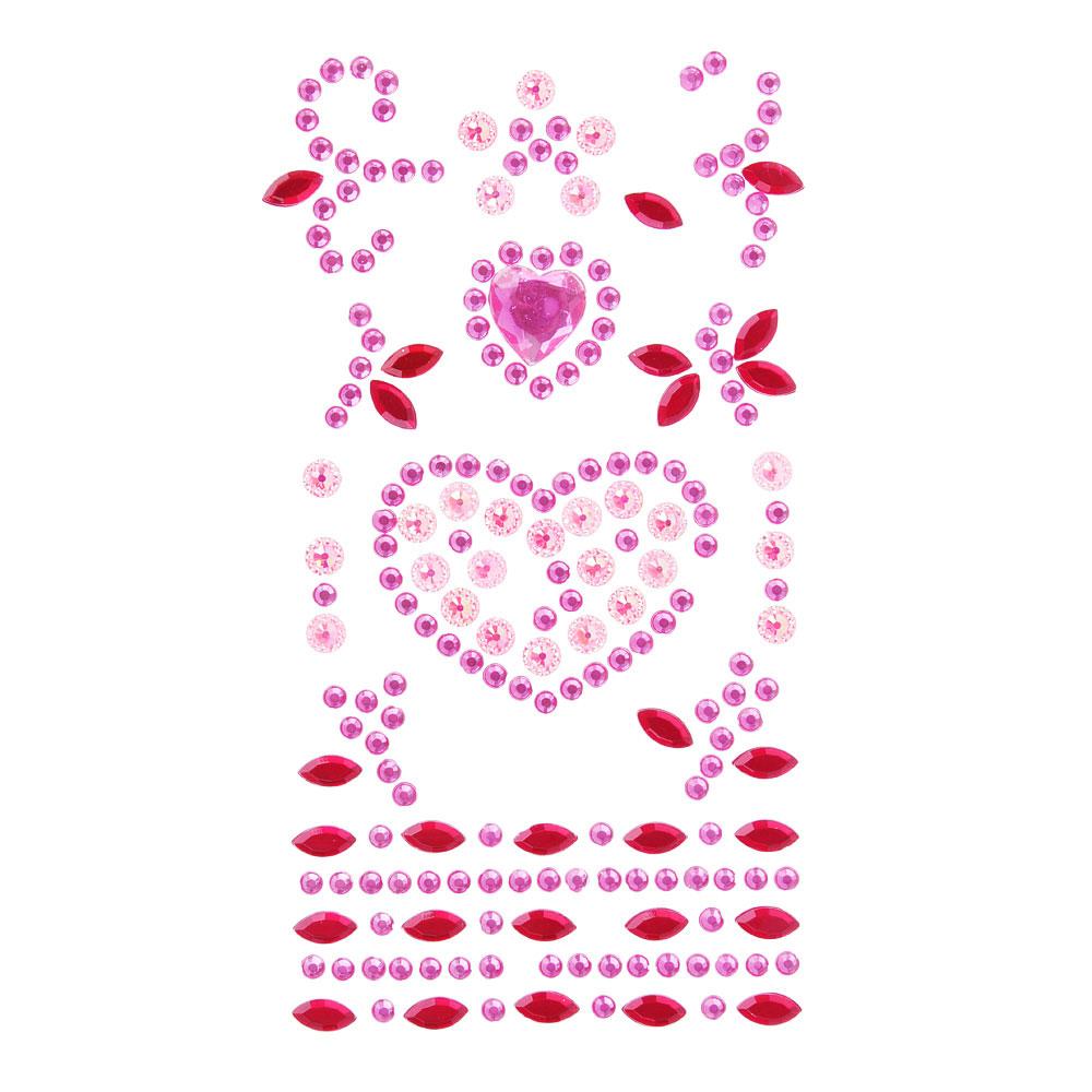 LADECOR Наклейка Блеск, ПВХ, 17х8см, 5-7 цветов, арт.75-05
