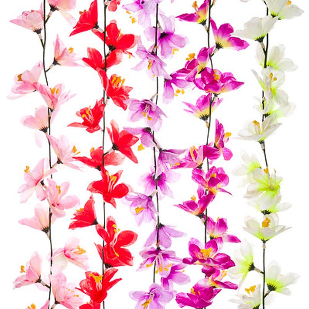 """Растение искусственное """"Лиана цветочная"""", 2м, 5 цветов"""