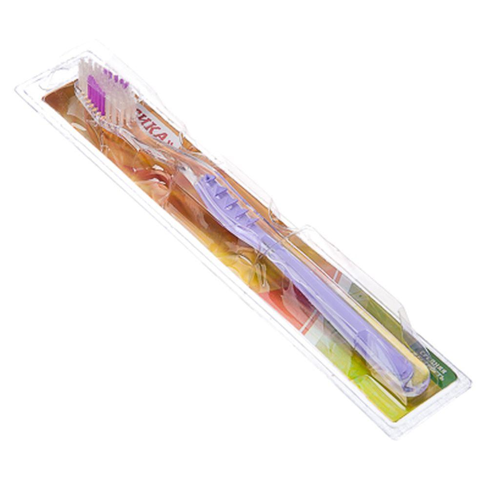 Зубная щетка Классика, пластик, средняя жесткость, индекс 5, степень 6?G?9