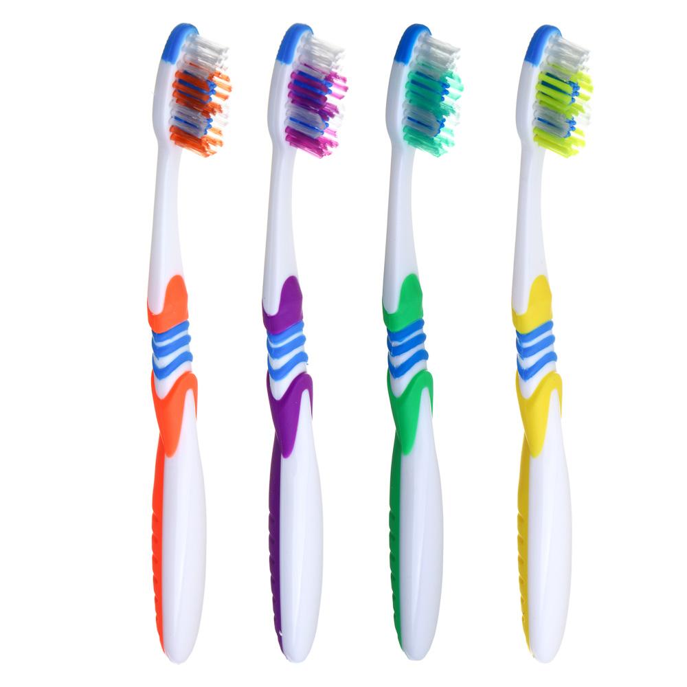 "Зубная щетка средней жесткости, пластик/резина, индекс жесткости 5, ""Релакс"""