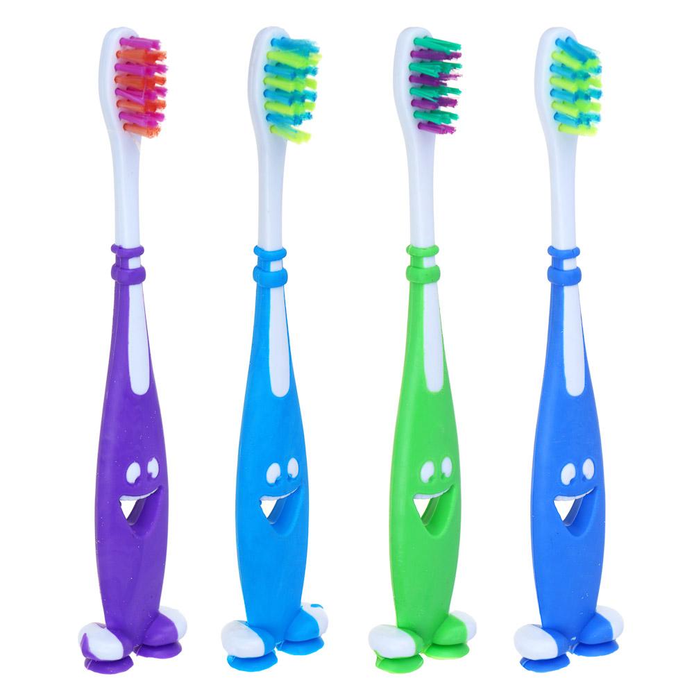 """Детская зубная щетка мягкая (soft), пластик/резина, индекс жесткости 3, """"Улыбнись"""""""