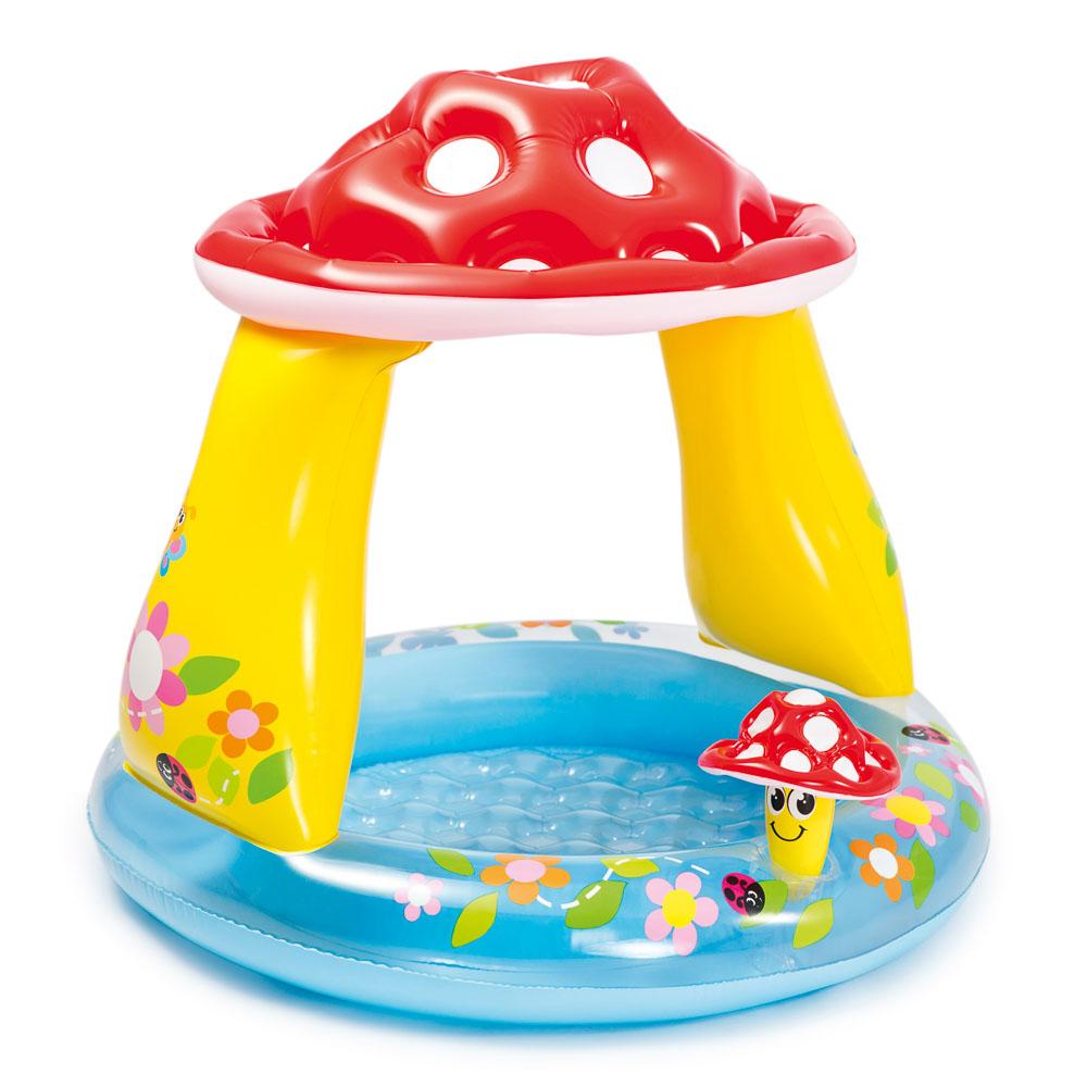 Надувной бассейн для детей INTEX 57114 Грибок 102x89 см,  для 1-3 лет