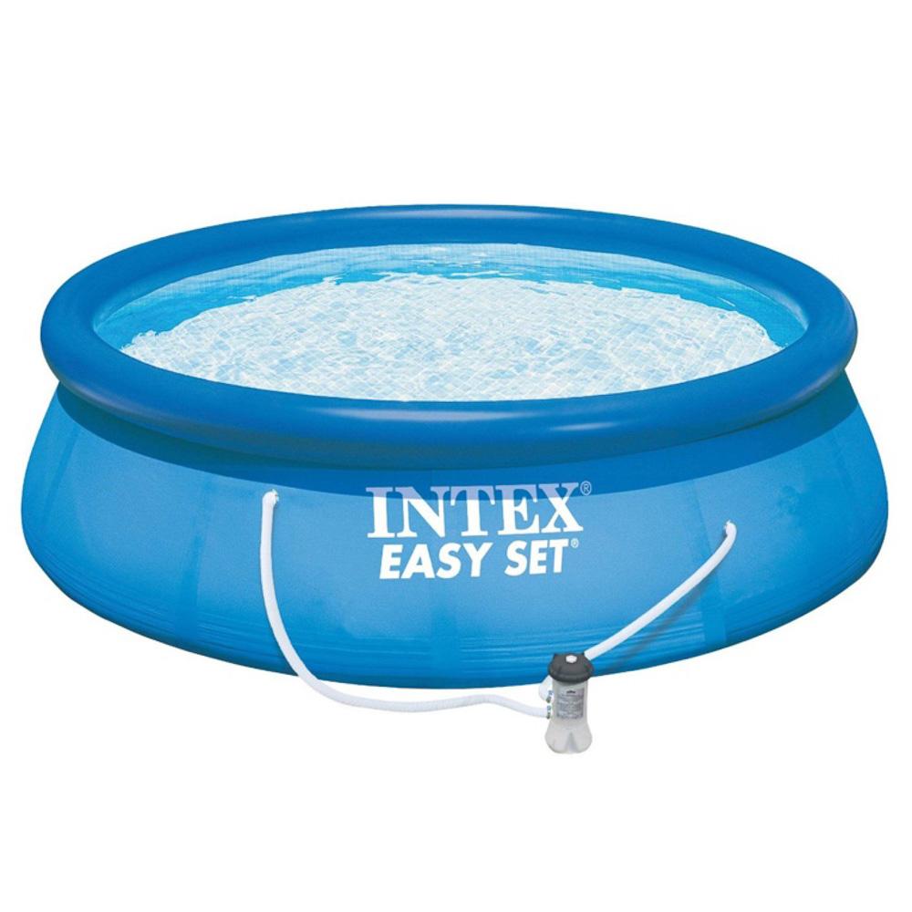 Бассейн надувной 305x76см 3853л, насос с фильтром 1250л/ч, INTEX Easy Set, 28122