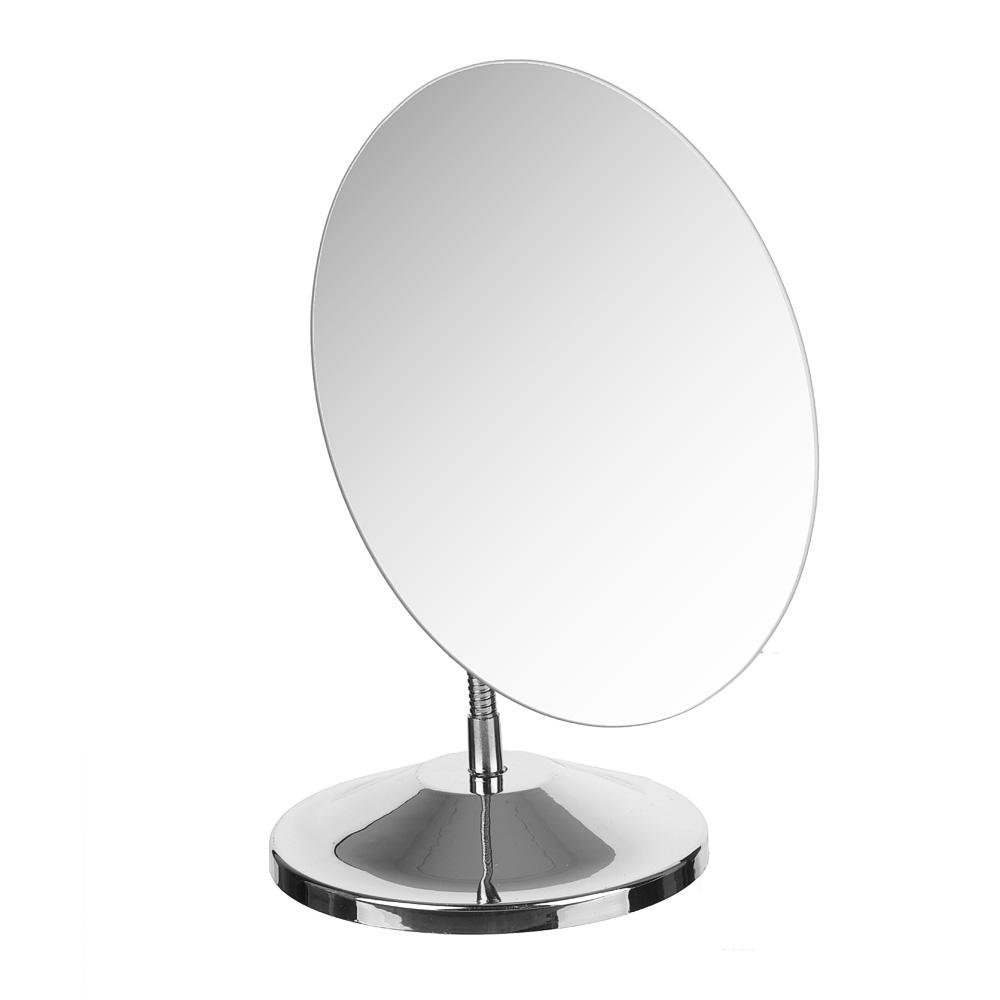 Зеркало настольное овальное, 15х18 см, металл