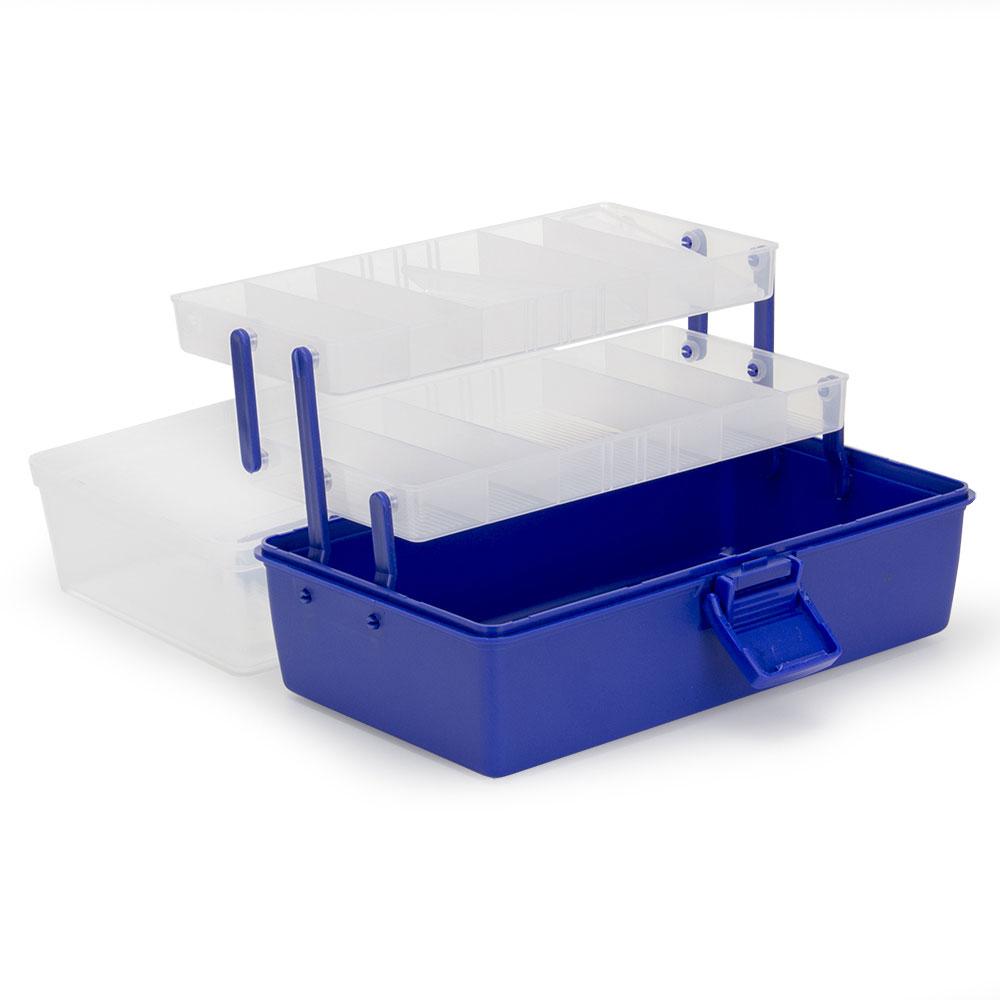 AZOR Ящик-органайзер для приманок, 3 уровня 29х18х14см, пластик