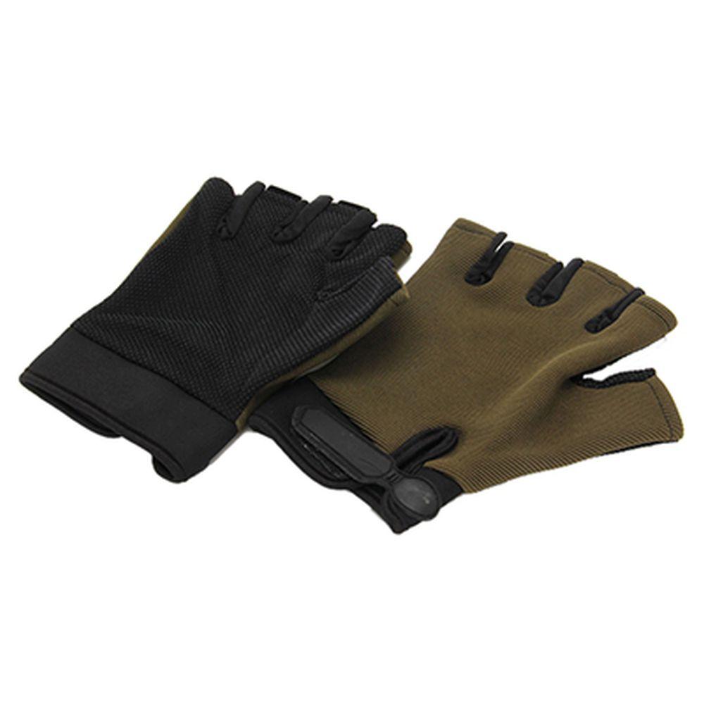 ЧИНГИСХАН Перчатки туристические без пальцев, зеленые, нейлон р-р ХL, 6300