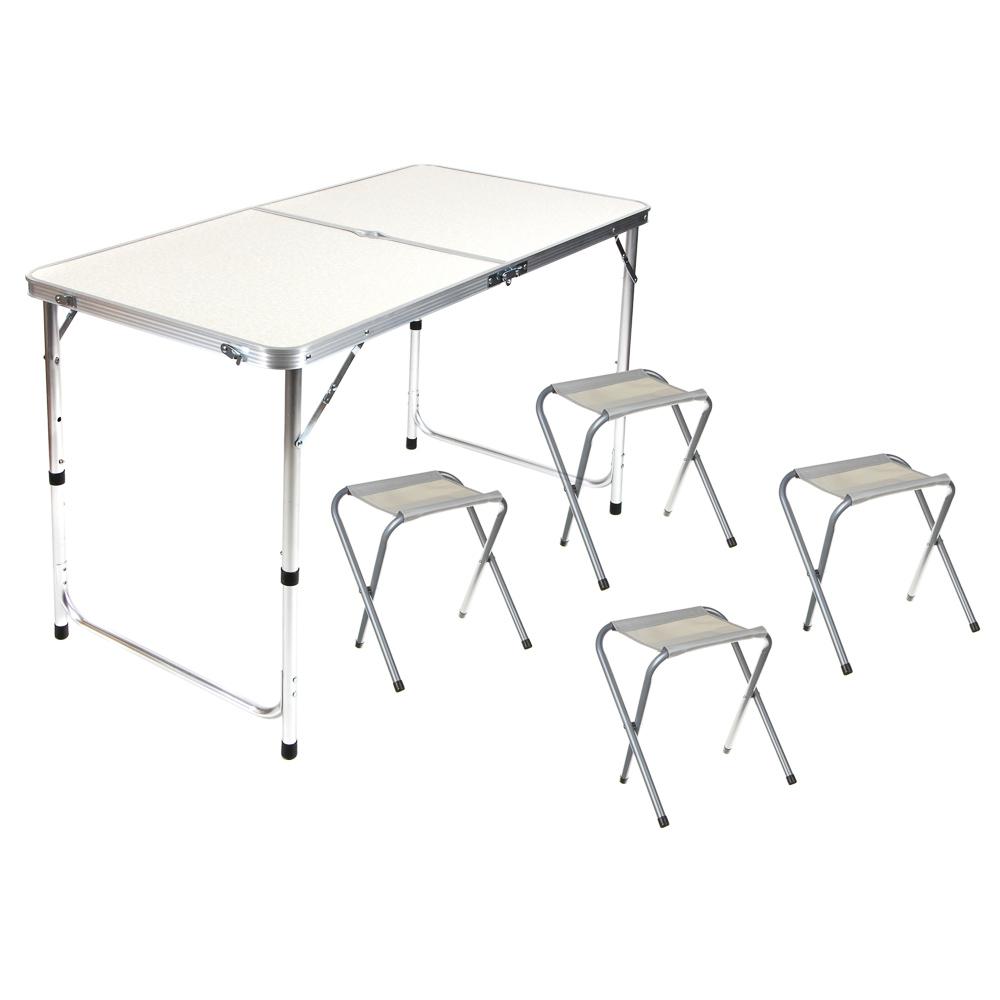 Комплект мебели для кемпинга 5 предметов, сталь/oxford 600D/МДФ, ЧИНГИСХАН