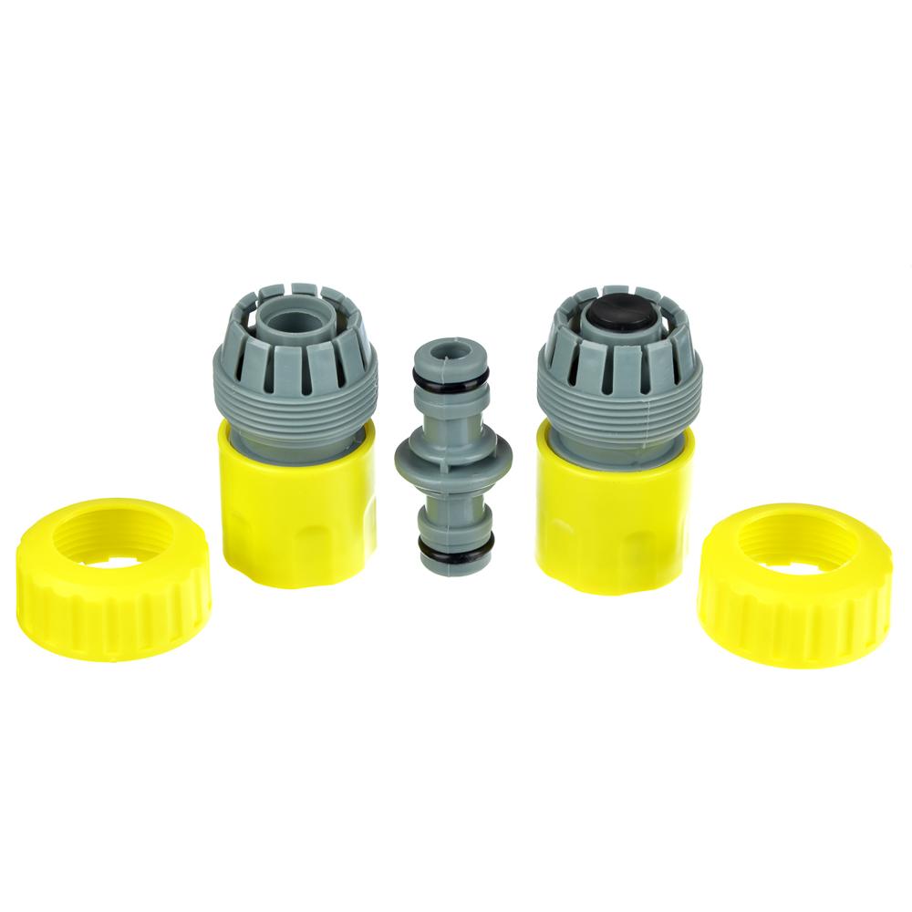 """Набор для полива: 2 коннектора d3/4"""", соединитель штуцерный, пластик, 21х13х4,5, INBLOOM"""
