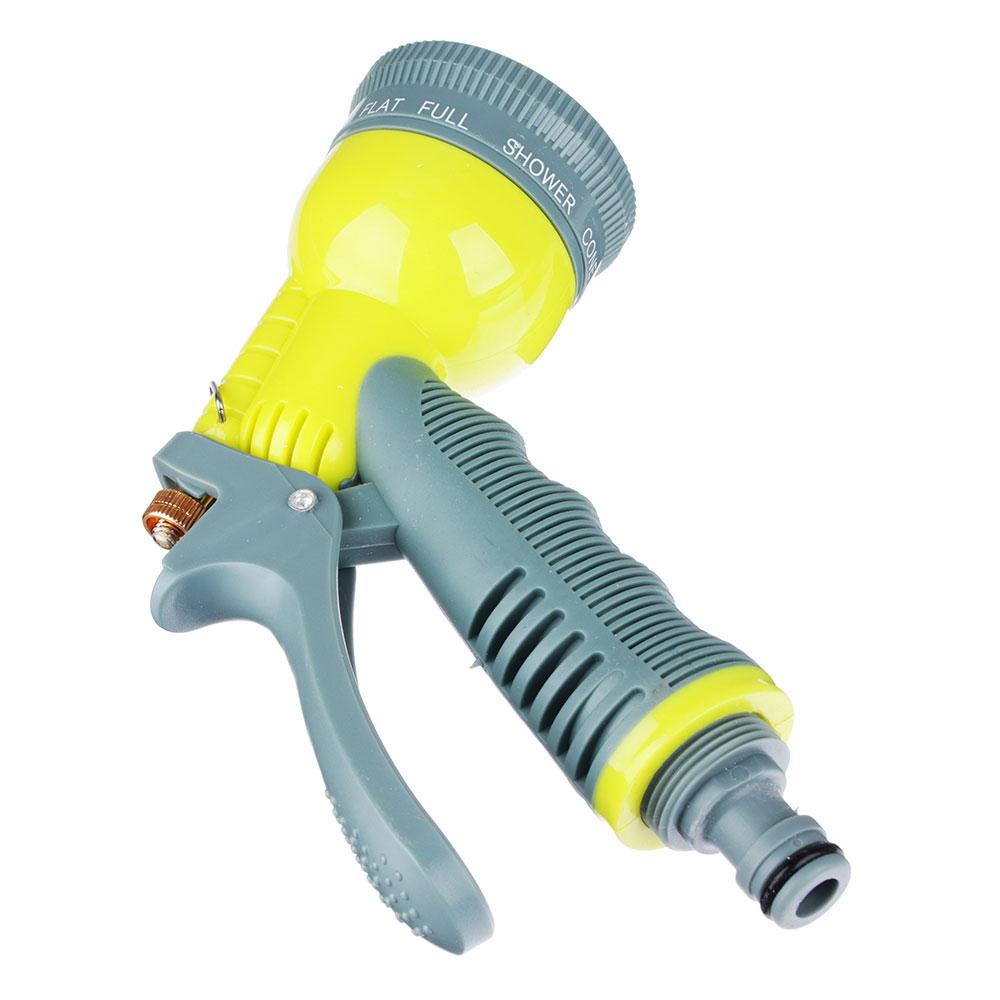 Пистолет-распылитель с эластичной накладкой на ручку, пластик, 8 режимов, 6х14х21, INBLOOM