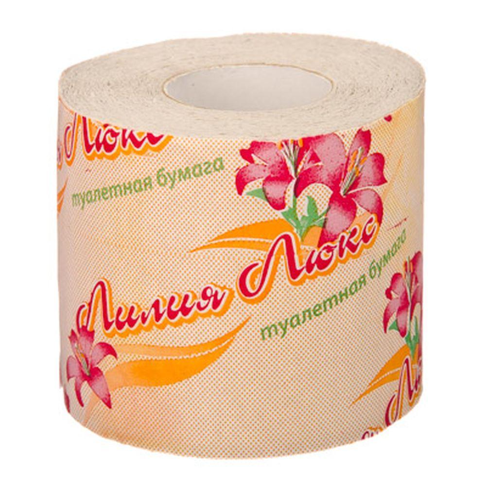Туалетная бумага Лилия Люкс, 1 рулон, арт.1097/1