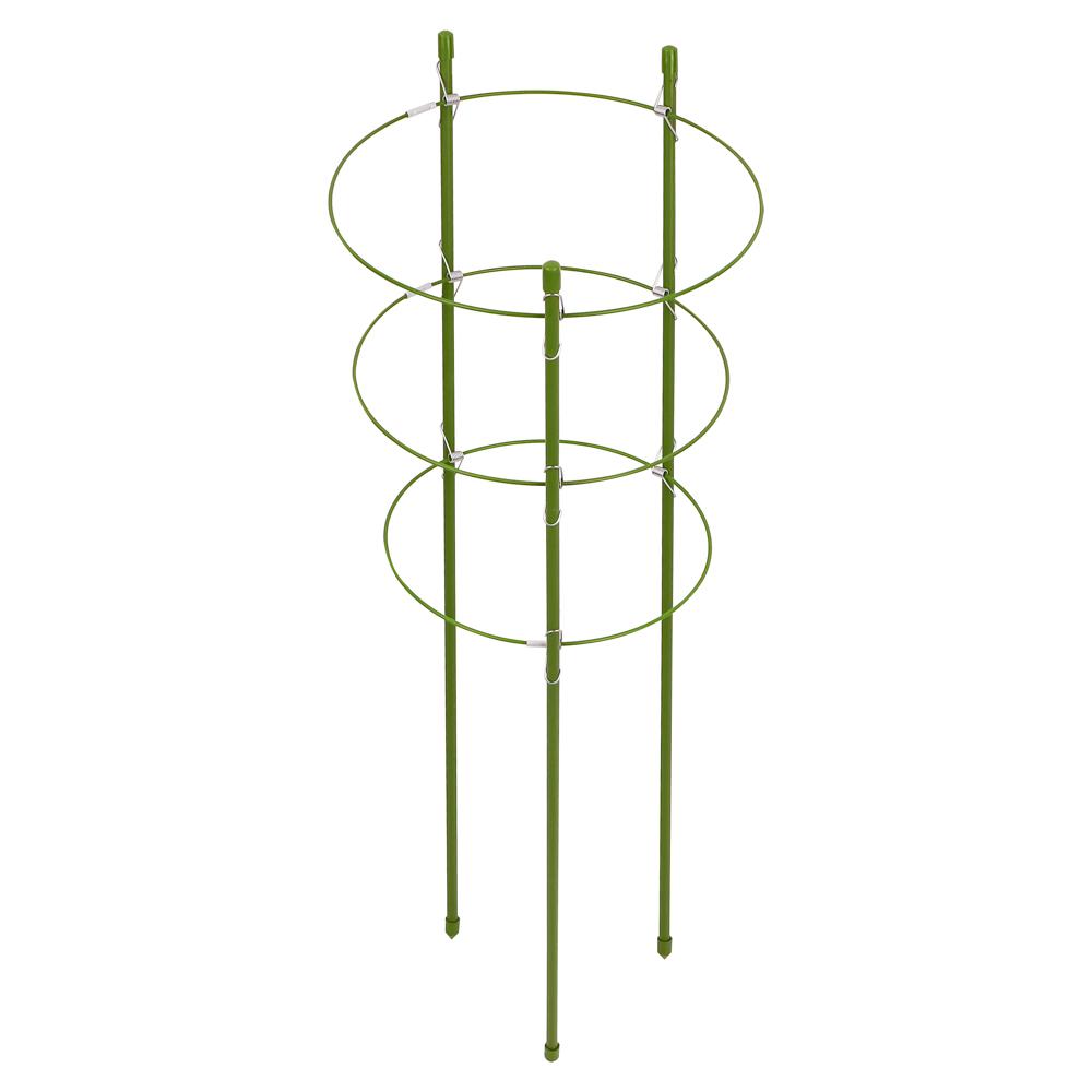 Опора для растений, 3 кольца, d18,20,22 см, h60 см, металл, 61х23х5, INBLOOM