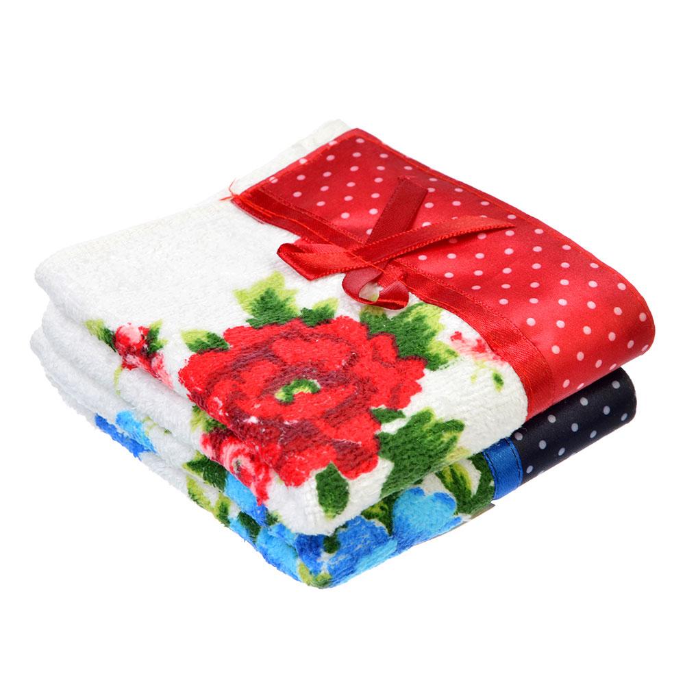 Полотенце для рук махровое, хлопок, 25х50см, белое VETTA