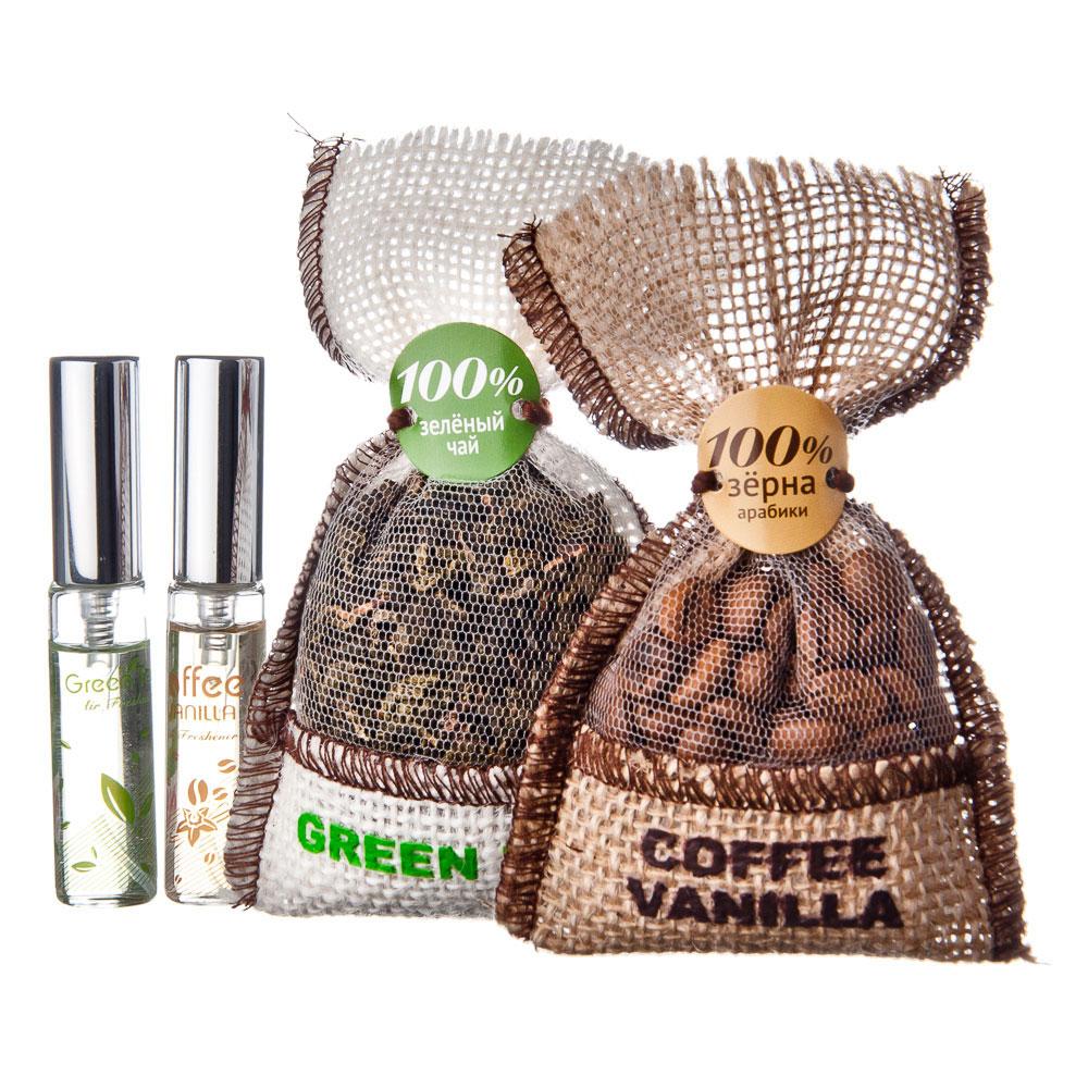 Ароматизатор в автомобиль мешочек, аромат кофе и ваниль, NEW GALAXY