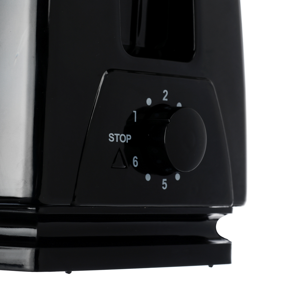 LEBEN Тостер 750Вт, 2 отдел, 6 степеней поджарки, 220В, арт.RF10