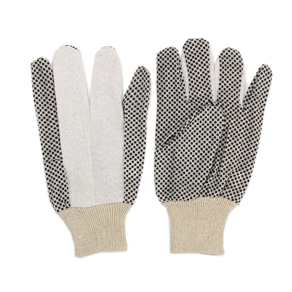 INBLOOM Перчатки садовые х/б ткань с ПВХ точкой, 10 размер, 23,5см,45гр, 2 цвета 27х14х5