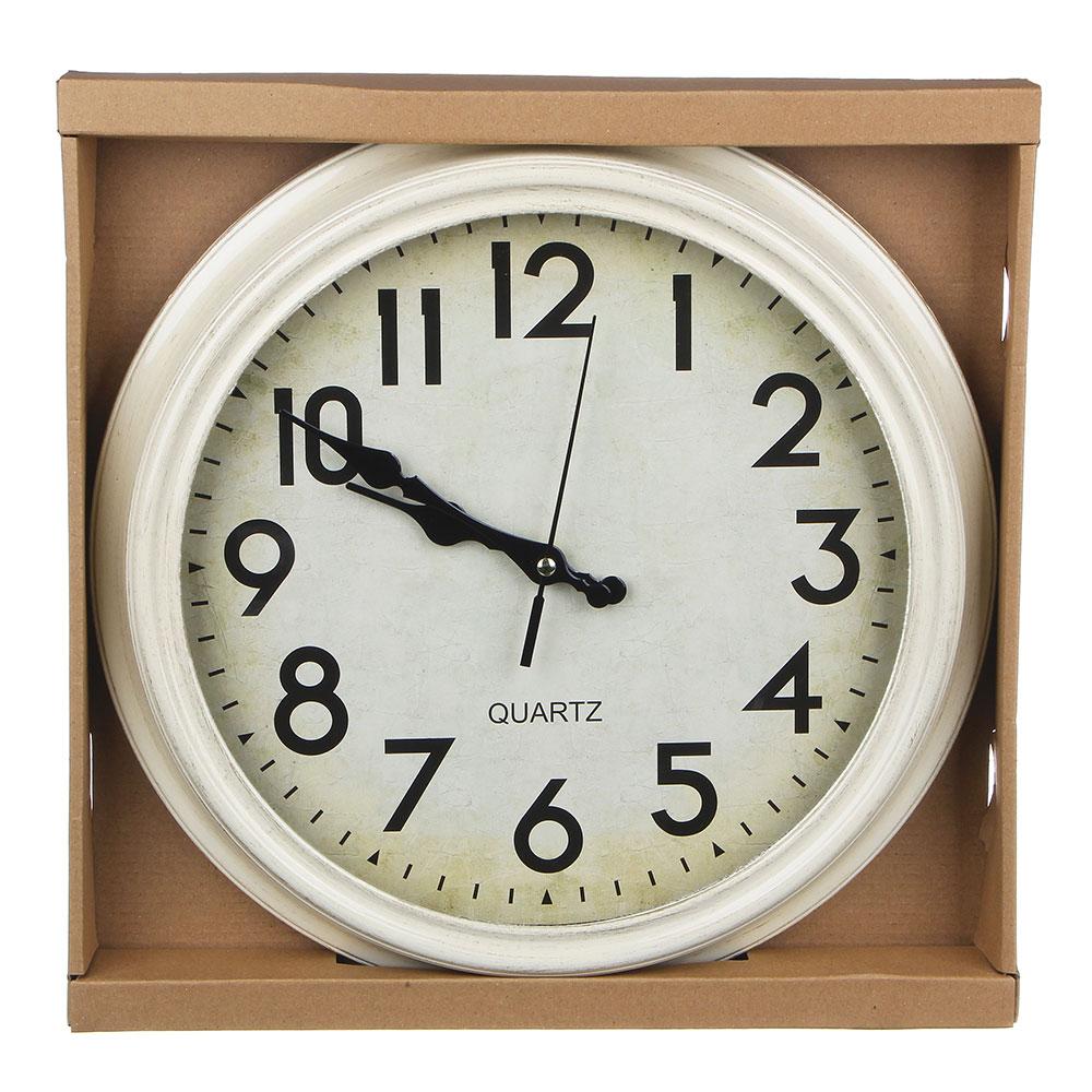 Часы настенные в стиле ретро, пластик, 35х35см, 1хАА