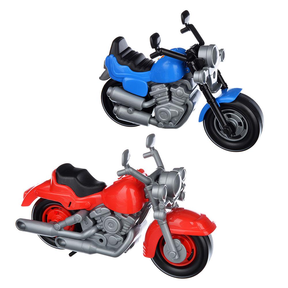 """ПОЛЕСЬЕ Мотоцикл """"Гоночный"""", пластик, см, 2 дизайна, 9813"""