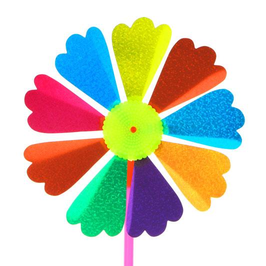 """Игрушка ветряная вертушка, ПВХ/пластик, 16,5х35 см, 8 дизайнов, """"Летний цветок"""""""
