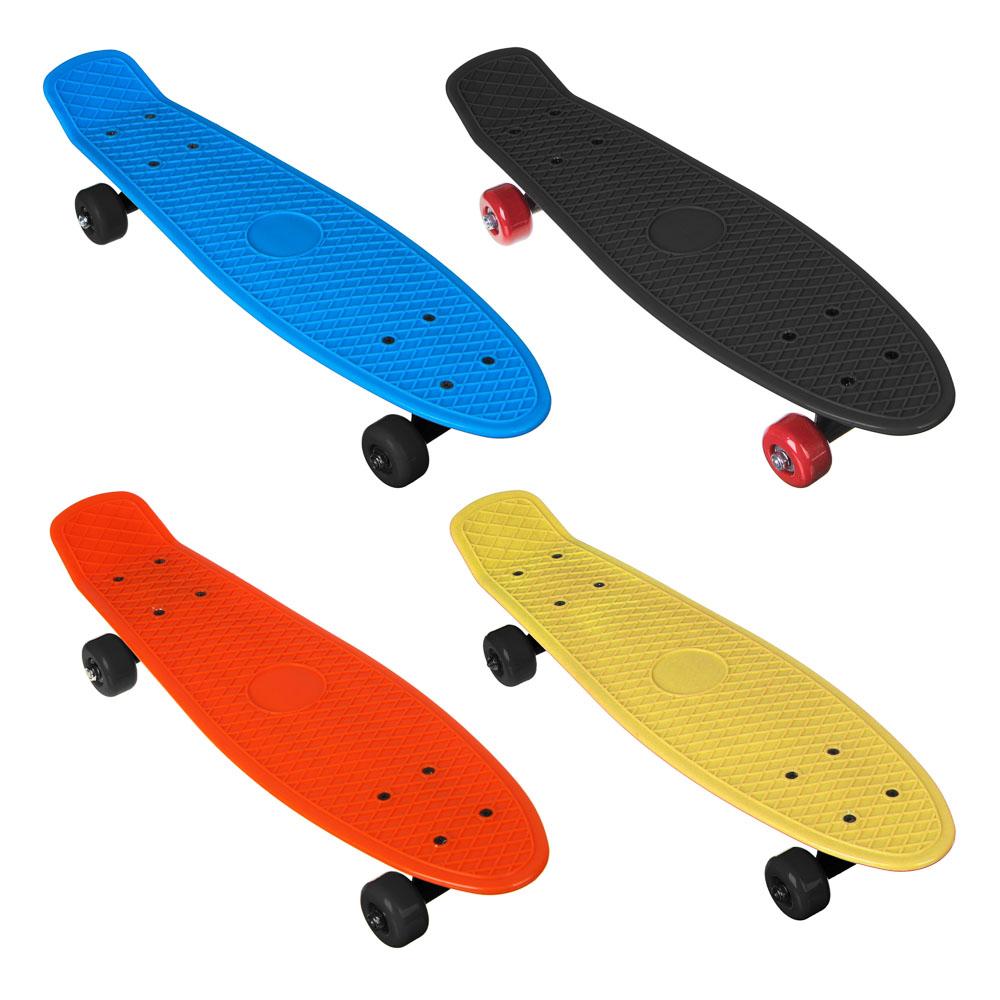 Скейтборд, 56х15 см, ABS пластик, пласт.крепеж, 5036 PVC 608Z, макс.нагрузка 30 кг, SILAPRO, М350-2