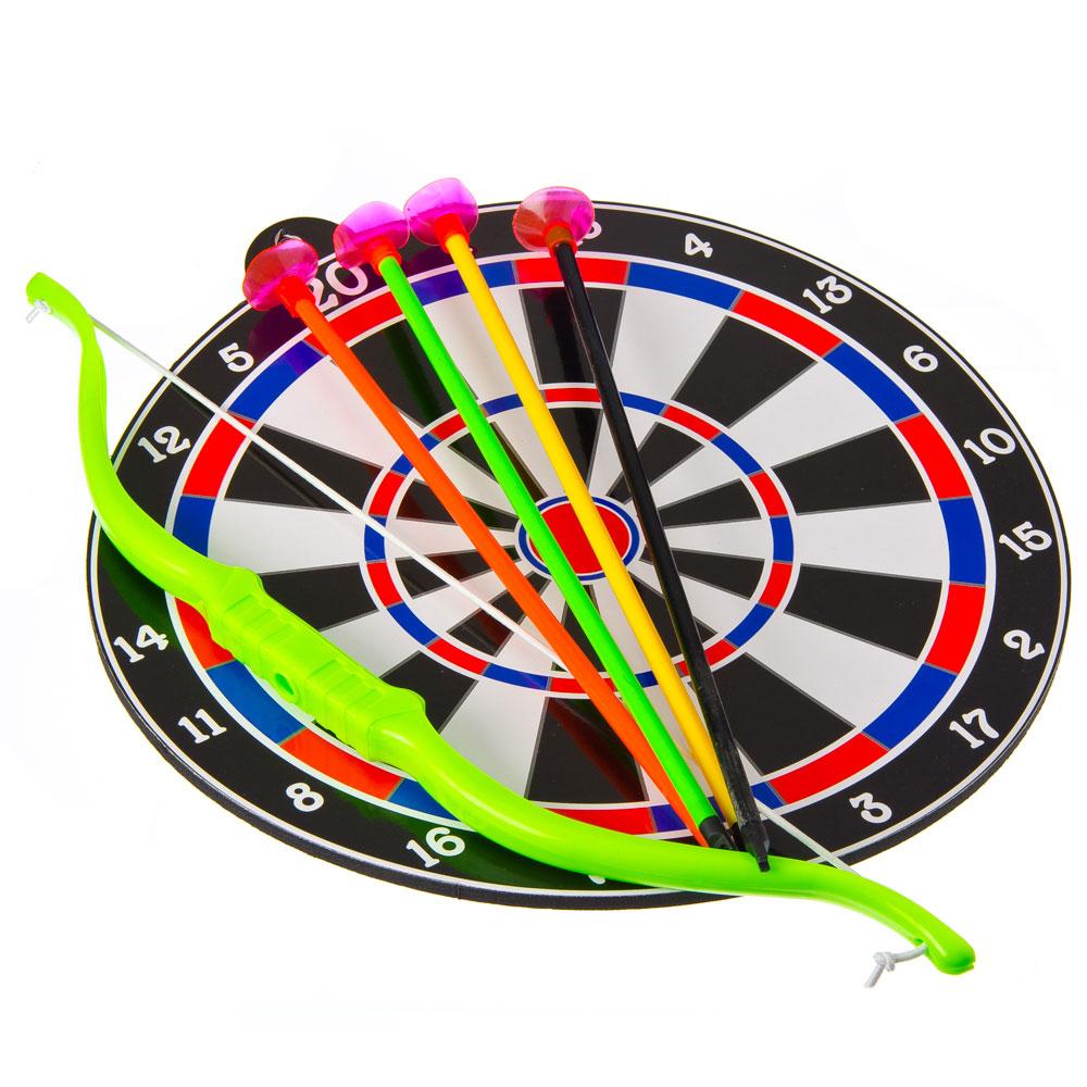 Лук со стрелами (4шт) на присосках + мишень, YG3306-1
