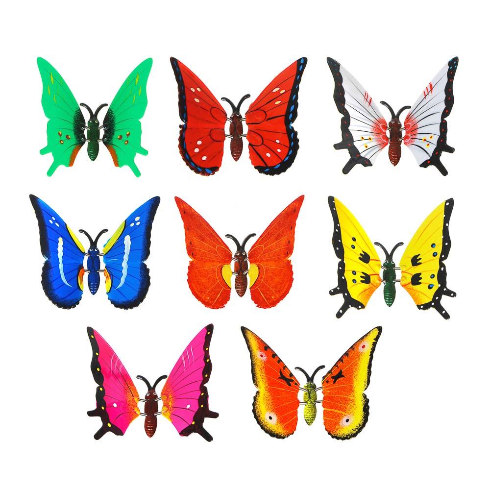 Фигурка декоративная на металлическом стержне, 60см, 8 цветов, арт.1