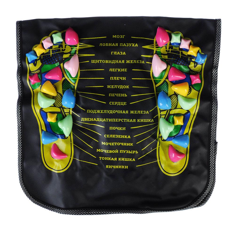 Коврик массажный для ног и спины с указанием акупунктурных точек, 70х35 см, ПВХ, полипропилен, SILAP
