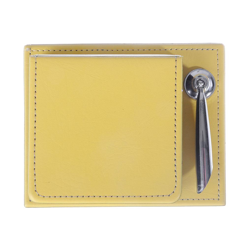 Набор: блок для записей с клеевым краем 140 л + подставка для ручек+календарь, 11х8,5 см, 8 дизайнов