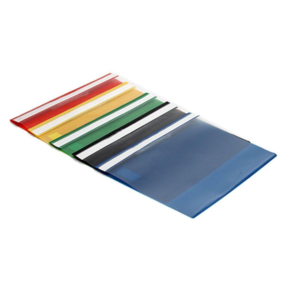 Папка-скоросшиватель, А-4, 120 микрон, ПВХ, 5 цветов