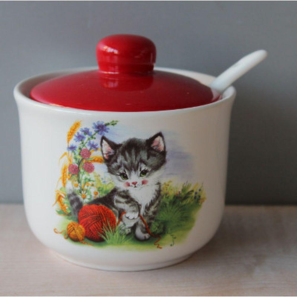 Котята Сахарница 350мл, керамика, Дизайн GC