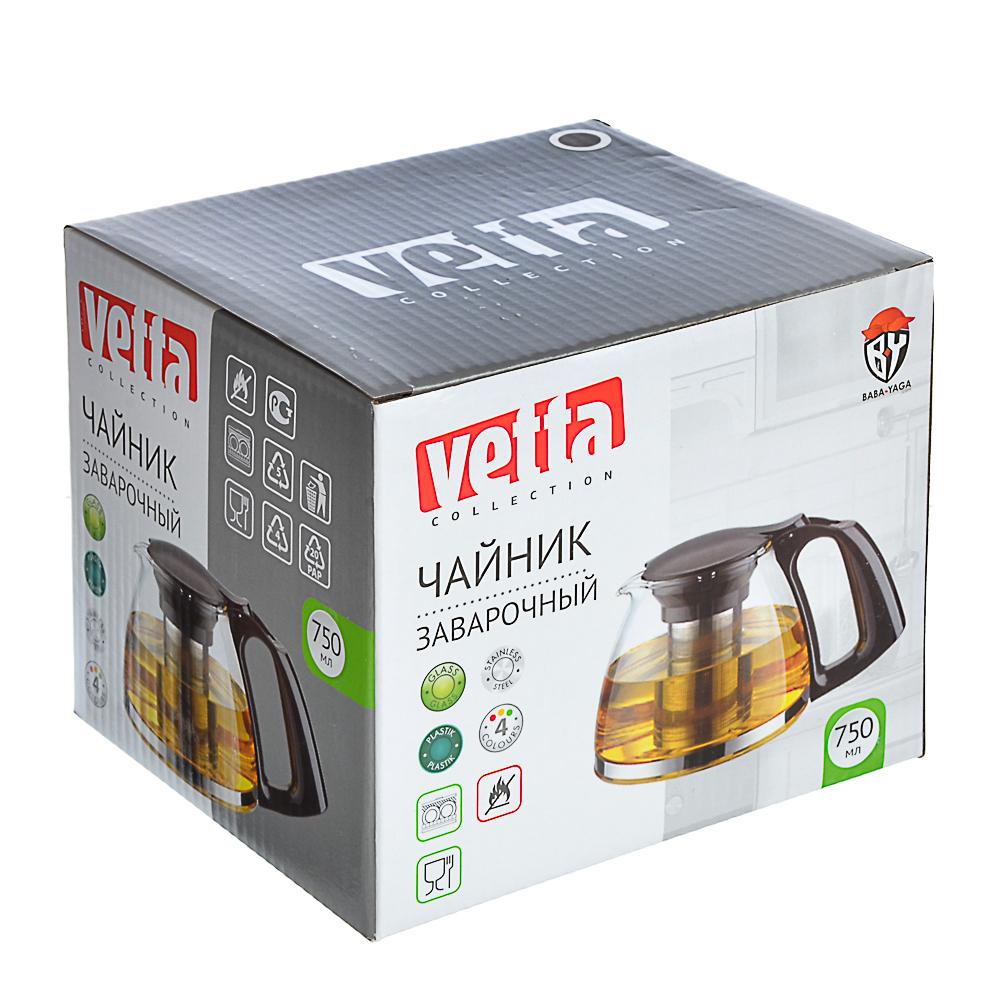 Чайник заварочный 750 мл VETTA, ситечко из нержавеющей стали, стекло/пластик