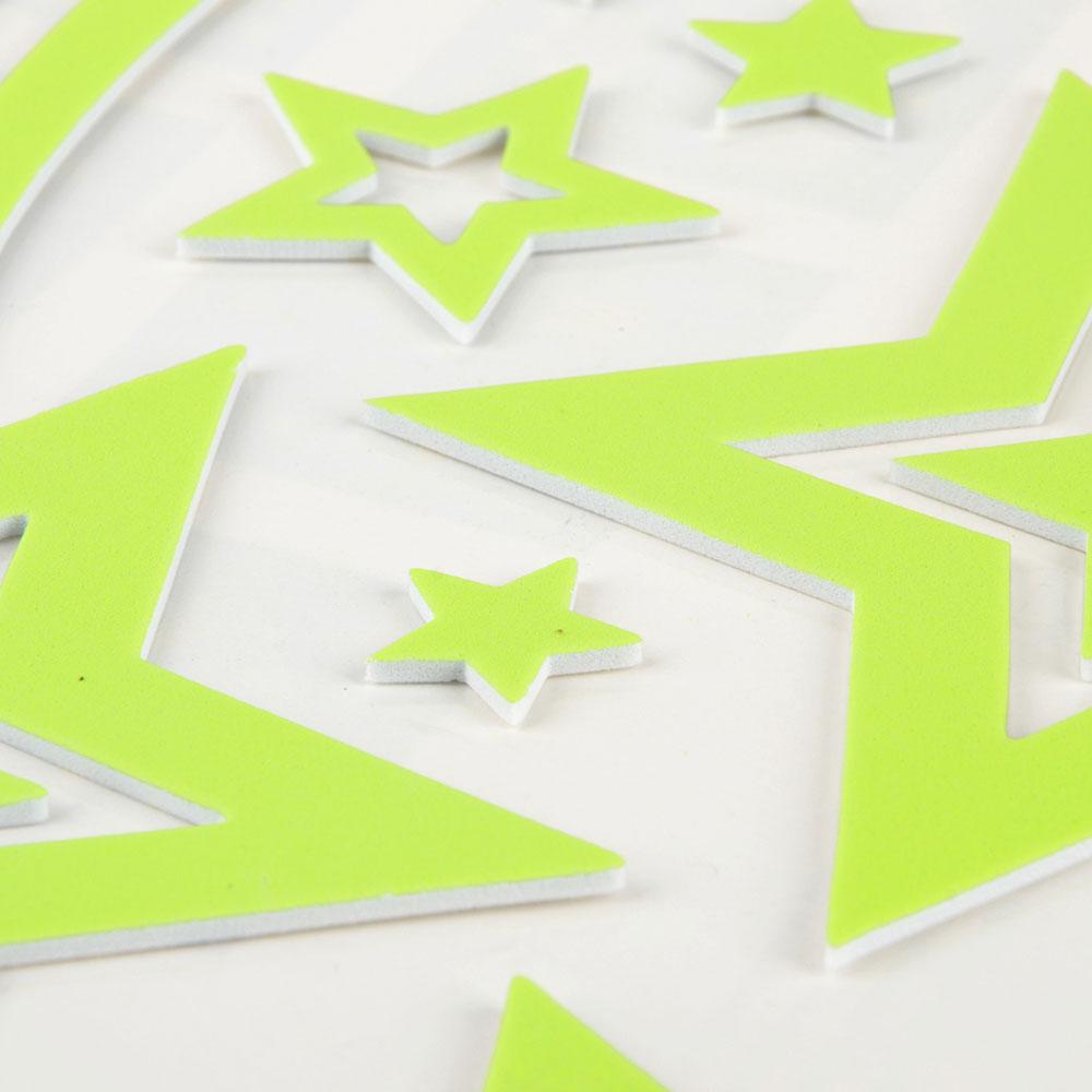 Наклейка декоративная флуоресцентная, ПВХ, 37х30,5см, 4 дизайна