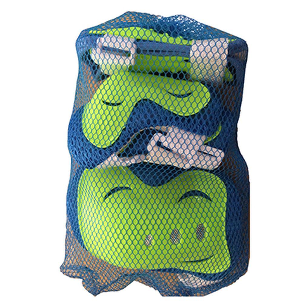 Набор защиты (колени, локти, запястья) зеленый/голубой, размер M, арт.LF-0240