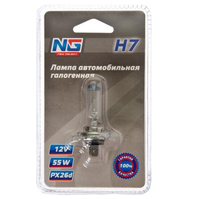 NEW GALAXY Лампа автомобильная галогеновая (тип лампы H7) (тип цоколя PX26d) 12V, 1шт
