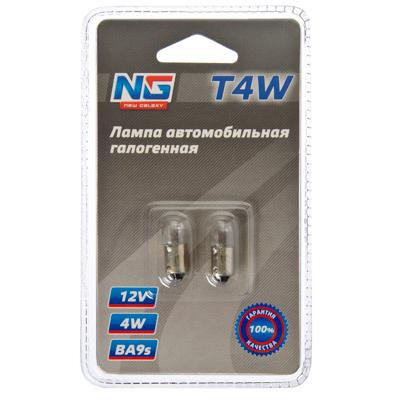 NEW GALAXY Набор ламп 2шт автомобильных галогеновых (тип лампы T4W) (тип цоколя BA9s) 12V
